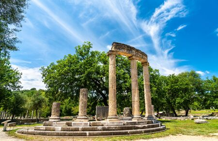 The Philippeion at the Archaeological Site of Olympia, in Greece