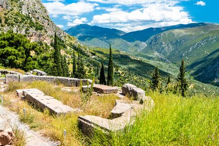 Archaeological Site of Delphi. in Greece