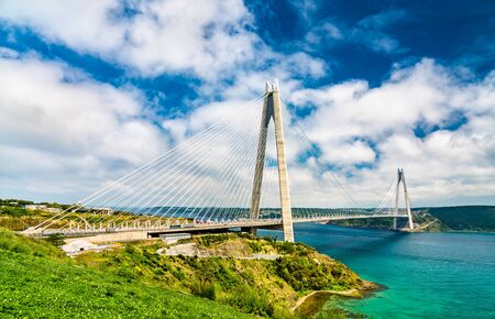 Yavuz Sultan Selim Bridge over the Bosphorus strait in Turkey