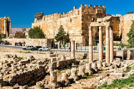 Ruins of the temple of the Muses at Baalbek in Lebanon