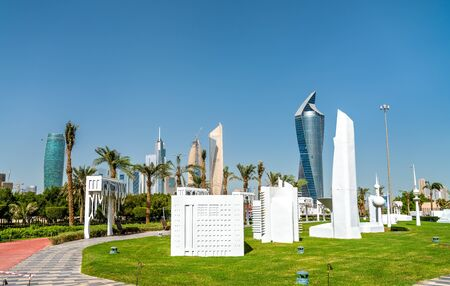 Kuwait City in Miniature at Al Shaheed Park. Kuwait, the Middle East Stok Fotoğraf