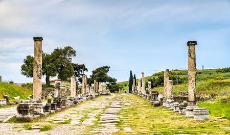 Ruins of Asclepieion of Pergamon in Turkey Imagens
