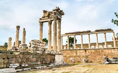 The Temple of Trajan in Pergamon, Turkey
