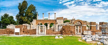 Ruins of the St. John Basilica at Ephesus in Turkey