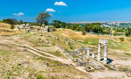 Ruins of Panticapaeum, an ancient Greek city in Kerch - Crimean Peninsula Zdjęcie Seryjne