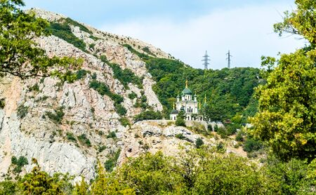 La Iglesia de la Resurrección de Cristo en Foros, Crimea Foto de archivo