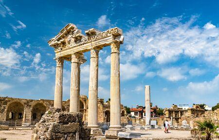 Ruinen des Apollontempels in Side, Türkei