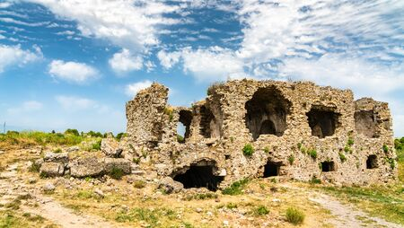 Ruins of the ancient town of Side in Turkey