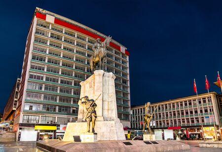 Statue of Mustafa Kemal Ataturk in Ankara, Turkey Stock Photo