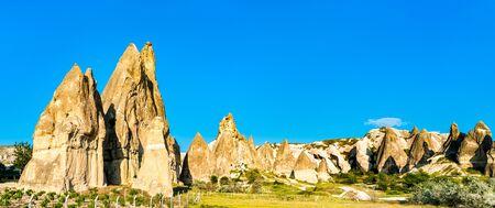 Rock formations in Goreme - Cappadocia, Turkey 스톡 콘텐츠