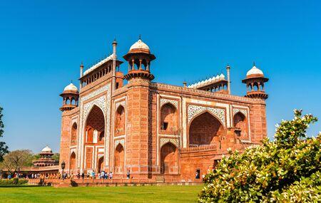 Darwaza i Rauza, the Great Gate of Taj Mahal - Agra, India