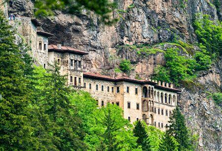View of Sumela Monastery at Mela Mountain in Turkey