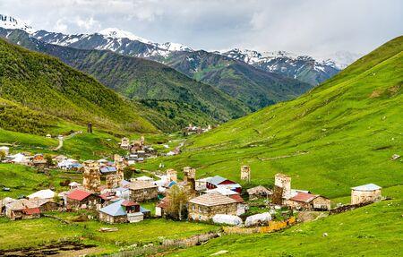 Ushguli village with Svan towers - Upper Svaneti, Georgia