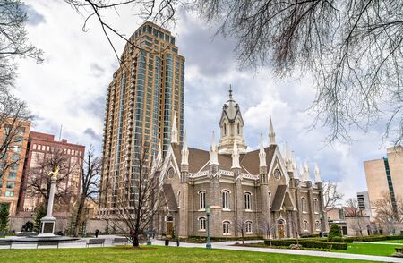 The Salt Lake Assembly Hall, a Victorian Gothic congregation hall in Salt Lake City, Utah