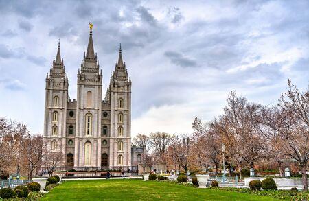 The Salt Lake Temple, a Mormon temple in Salt Lake City - Utah, United States