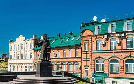 Monument to Grigory Kozlovsky, the founder of the town, in Syzran, Russia