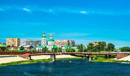 Cityscape of Yoshkar-Ola at the Malaya Kokshaga River in Russia