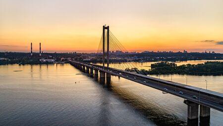 The Southern Bridge across the Dnieper in Kiev, Ukraine