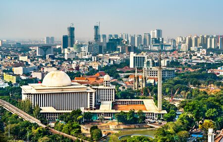 Istiqlal Mosque in Jakarta, Indonesia. The largest mosque in Southeast Asia Reklamní fotografie