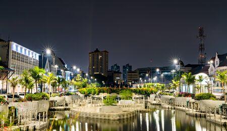 The Krukut River in Kota Tua, the old town of Jakarta, Indonesia Stock Photo