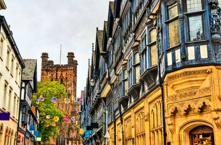 Traditional English houses in Chester, England