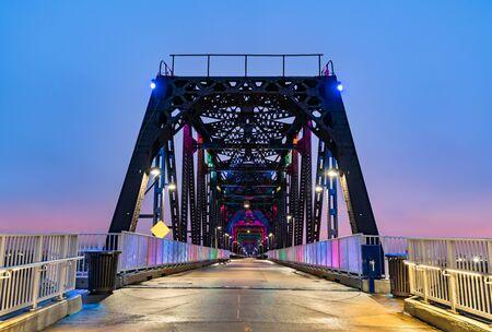 Big Four Bridge across Ohio River between Louisville, Kentucky and Jeffersonville, Indiana
