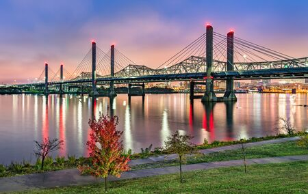 Bridges across the Ohio River between Louisville, Kentucky and Jeffersonville, Indiana