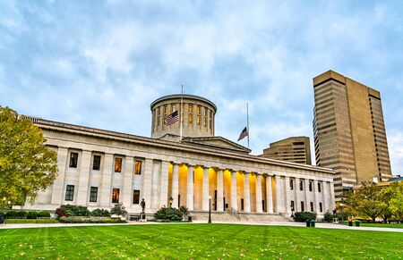 The Ohio Statehouse, the state capitol building and seat of government for the U.S. state of Ohio. Columbus, the United States