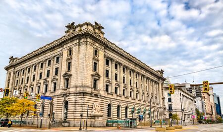 Historic courthouse and post office building in Cleveland - Ohio, the United States
