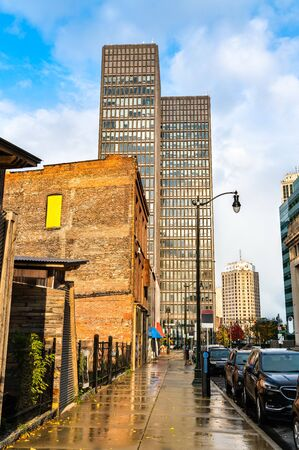 Historic buildings in Downtown Detroit - Michigan, United States