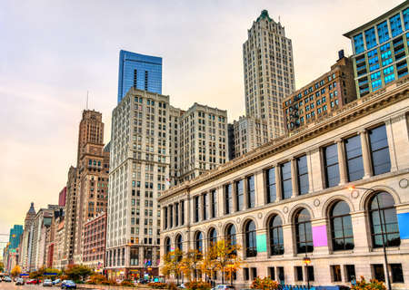 Historic buildings in Downtown Chicago - Illinois, United States