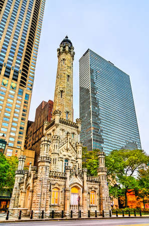 Chicago Avenue Water Tower in Chicago, USA