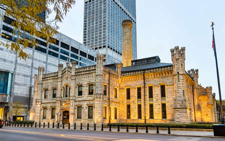 Chicago Avenue Pumping Station in Chicago, USA Stock Photo