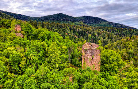 Nideck Castle in the Vosges Mountains - Bas-Rhin, Alsace, France