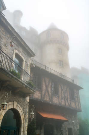 French castle at Ba Na Hills in Vietnam