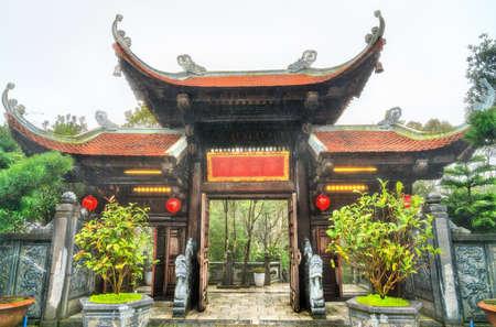 Buddhist temple at Ba Na Hills in Vietnam