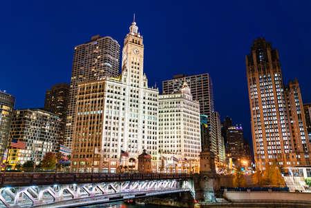 Downtown Chicago at Michigan Avenue Bridge