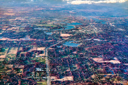 Typical landscape of Michigan, USA Stock Photo