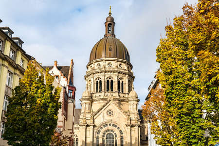 The Christuskirche, a Protestant church in Mainz, Germany