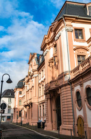 Traditional architecture in the old town of Mainz, Germany