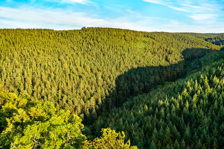 View of the Vosges mountains in Alsace, France Stock Photo