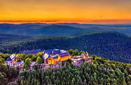 Mont Sainte-Odile Abbey in the Vosges Mountains, France