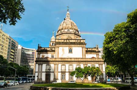 Candelaria Church in Rio de Janeiro, Brazil Foto de archivo