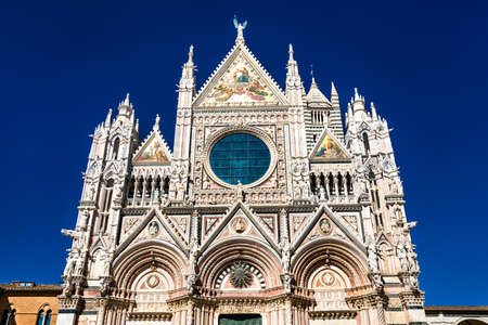 The Cathedral of Siena in Tuscany, Italy