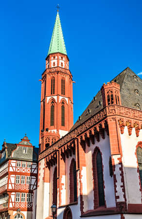 Old St Nicholas Church at the Romerberg in Frankfurt am Main, Germany