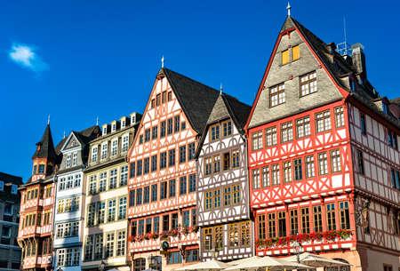 Traditional houses at Romerberg in Frankfurt am Main, Germany