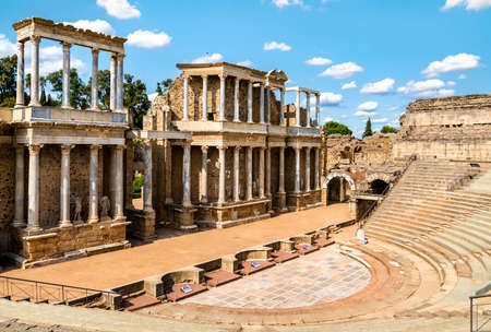 The Roman Theatre of Merida in Spain Banque d'images