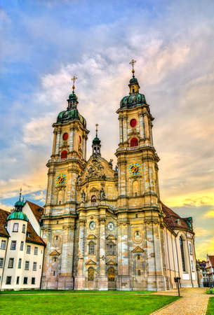 Cathedral of Saint Gall Abbey in St. Gallen, Switzerland