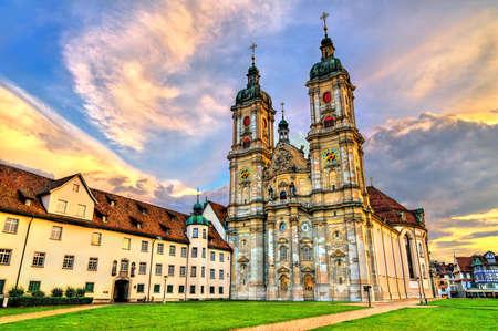 Cathedral of Saint Gall Abbey in St. Gallen, Switzerland 版權商用圖片