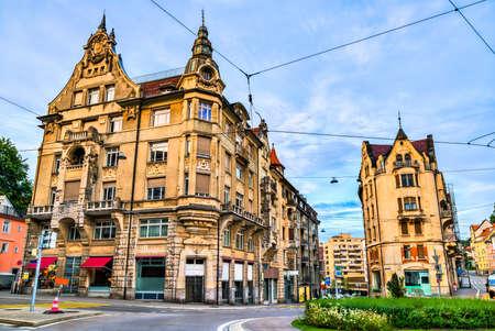 Architecture of St. Gallen in Switzerland